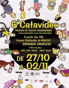 Cartaz do 6º Catavídeo