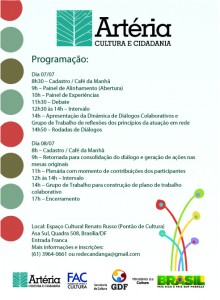 Seminário de Redes Culturais do DF e Entorno: Cultura em Diálogos e Conexões