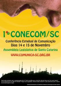 Cartaz da 1ª Conferência Estadual de Comunicação