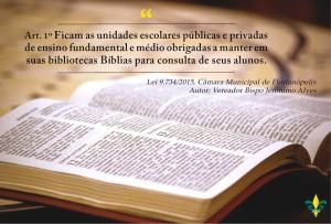 Contra a Lei que obriga a disponibilização de bíblias nas escolas de Florianópolis