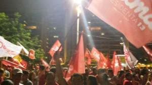 Comemoração pela eleiçāo da #Dilma13 nas #Eleições2014 em #Floripa